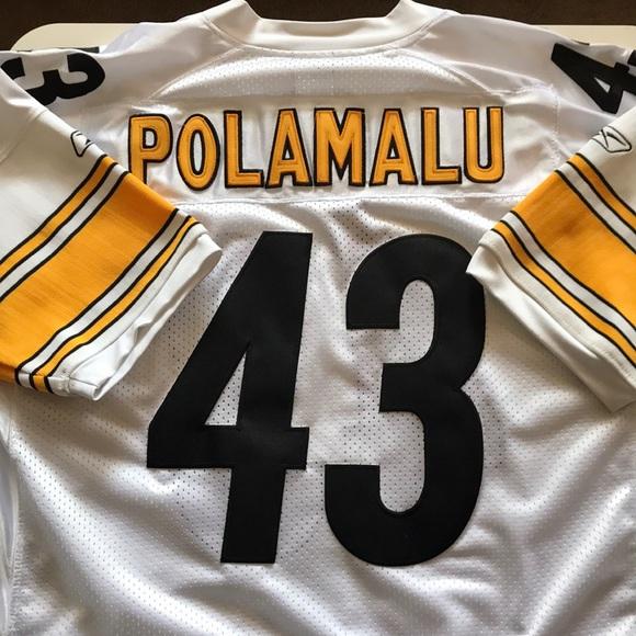 02edbef74f0 Troy Polamalu Pittsburgh Steeler Super Bowl Jersey. NWT. Reebok.  100  300.  Size